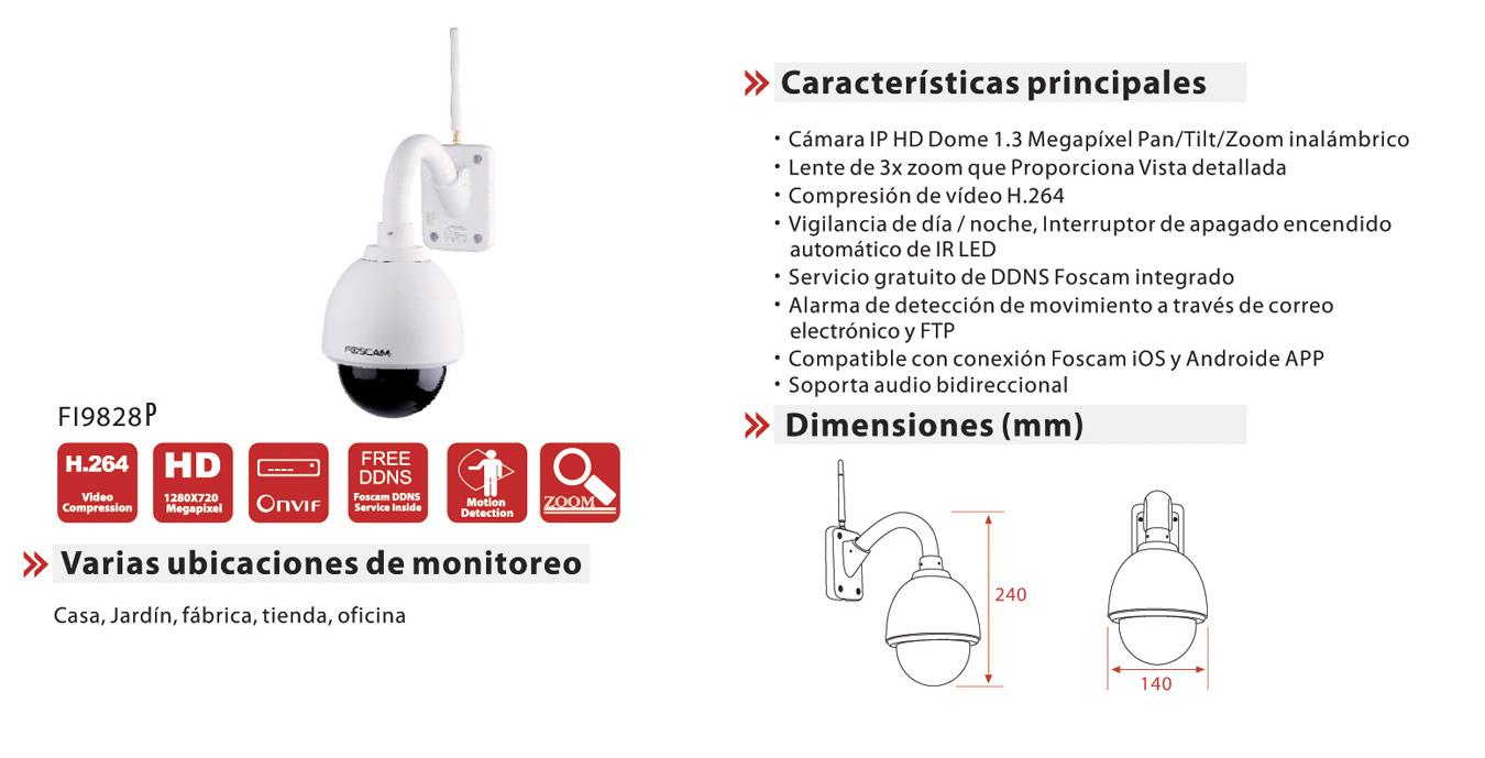 Characteristics Foscam FI9828P