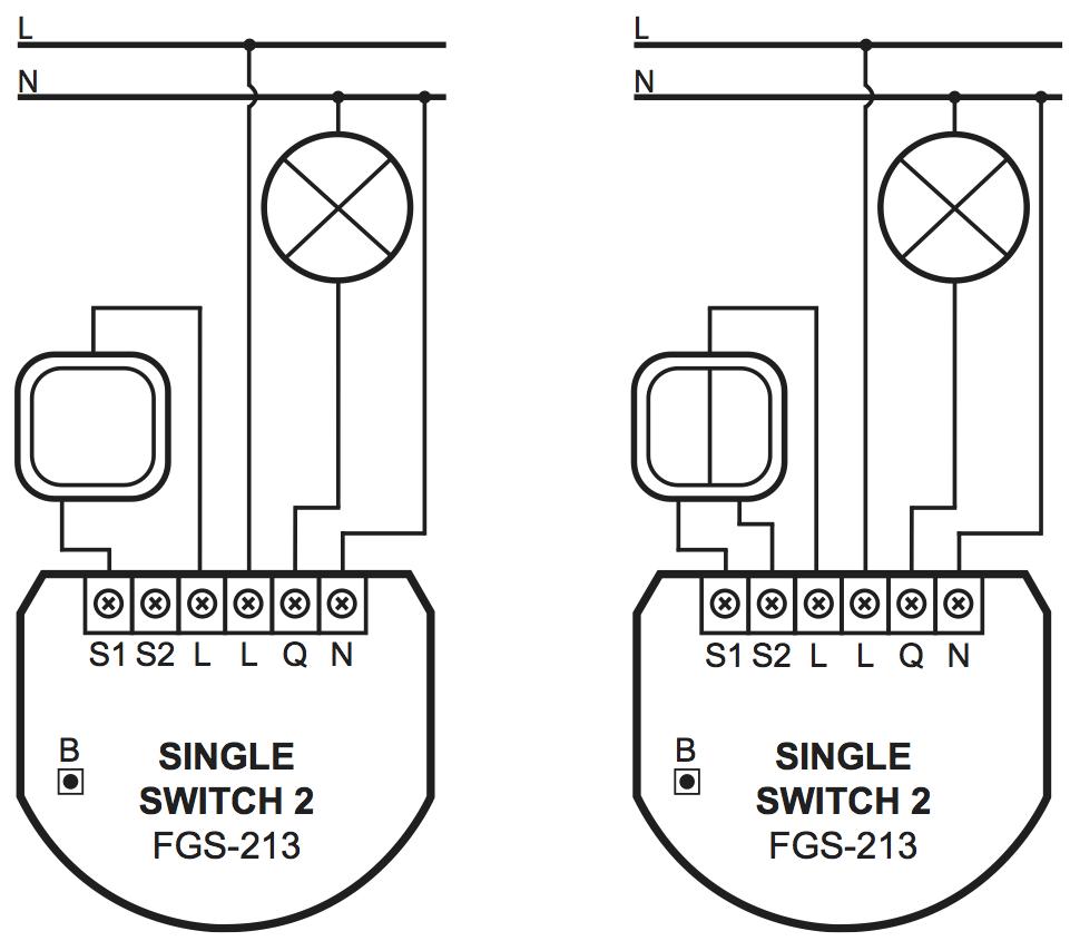 Cableado del FGS-213 de Fibaro