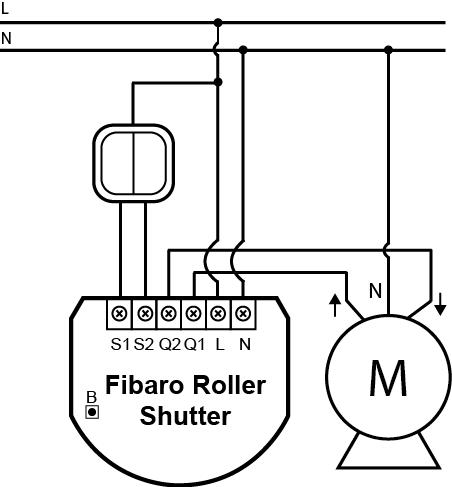 MOTOR PERSIANA -Conexionado Roller Shutter Fibaro