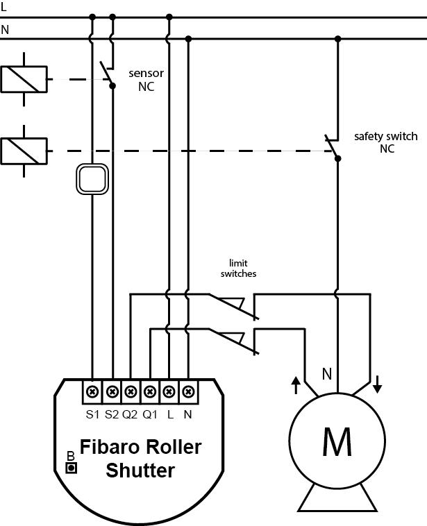 MOTOR DOOR GARAGE - Roller Shutter Fibaro