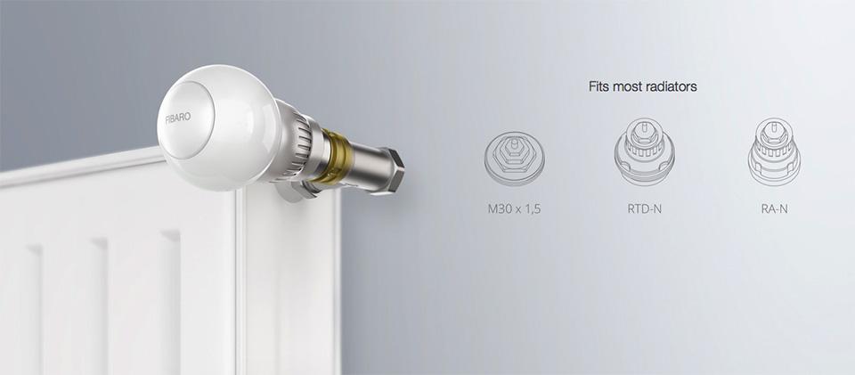 Fibaro-controlled radiator