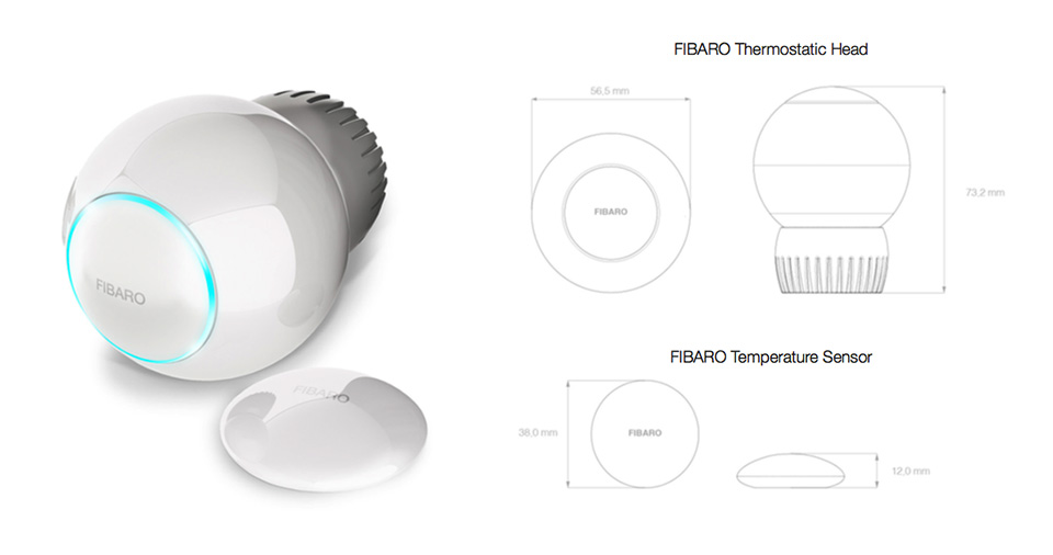 Thermostatic head Fibaro