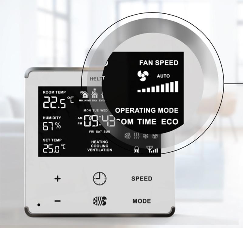 Heltun Fan Coil Zwave fan thermostat