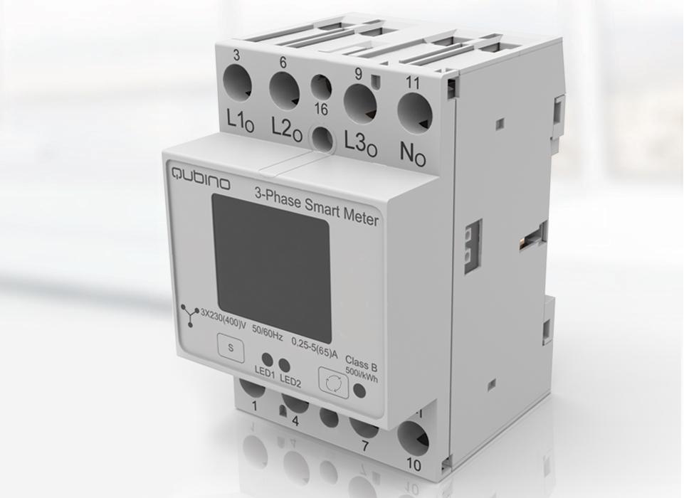 Medidor de consumo trifasico Qubino Smart Meter 3 fases