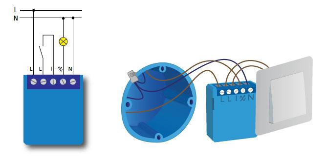 Instalacion Mini Dimmer Qubino con Neutro