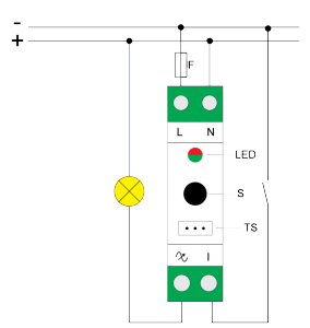 Qubino din dimmer electrical diagram