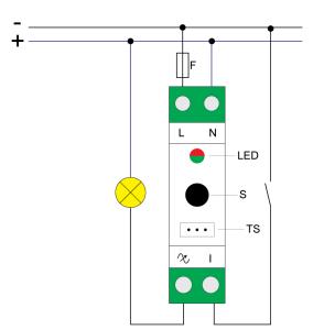 Qubino din dimmer diagrama elétrico