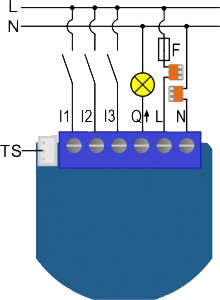 Esquemas Elétricos Qubino Flush 1 Relay
