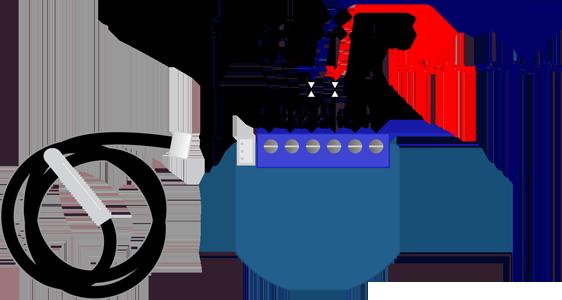 Termostato HVAC do esquema de ligação