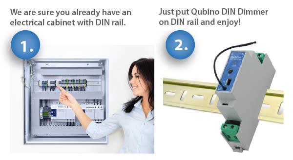 Instalação Dimmer DIN Qubino