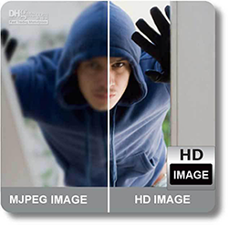 IP camera in HD vs No-HD