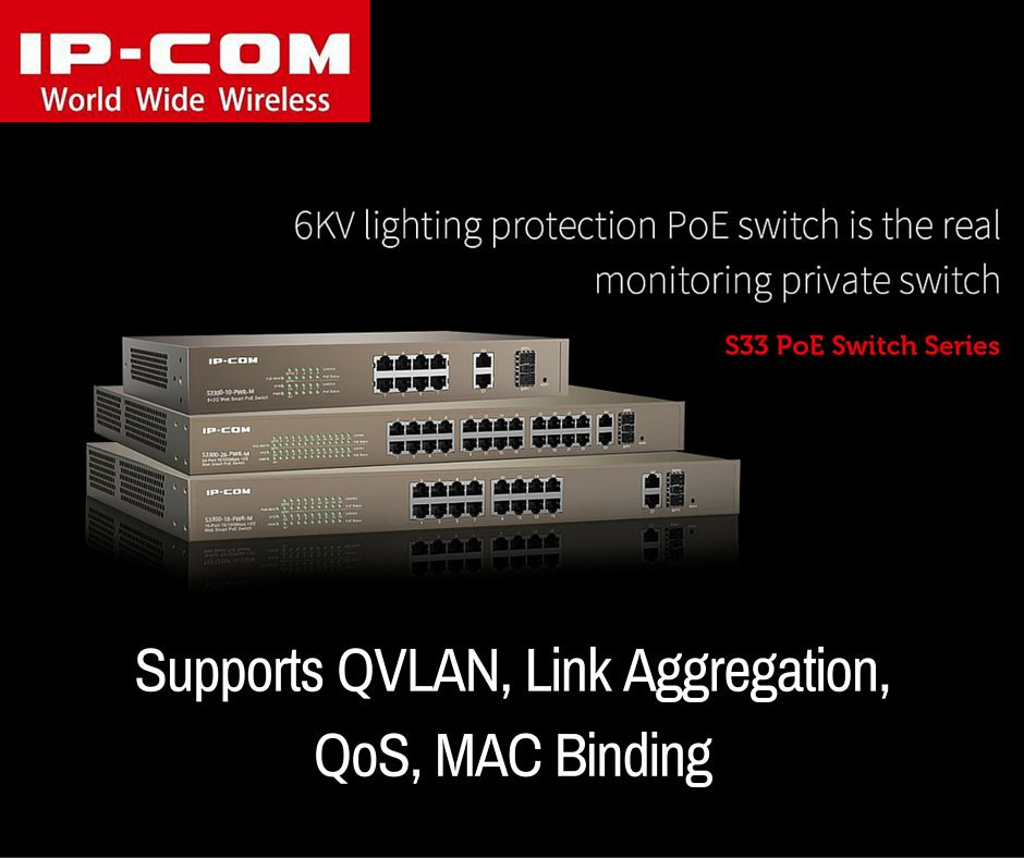 Switch PoE IP-COM